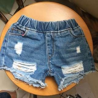 Denim shorts for 2-3 years old girl  . Condition like new