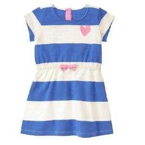 Gymboree Blue Striped Dress (Big Girls) with flaw