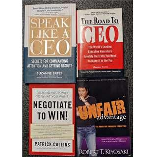 4 Books (including The Road to CEO)