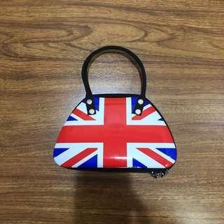 Union Jack Aluminum Tin Bag UK England London Flag