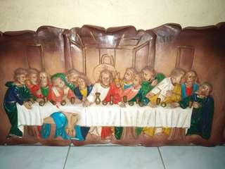 33inch Last Supper Wood carved