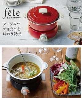 全新(New) Recolte Pot Duo fete (Red) 日式小電鍋