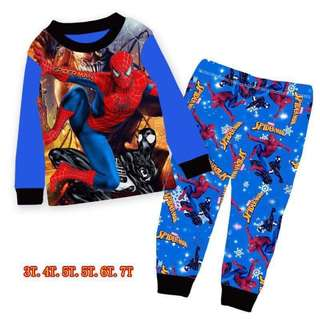 BNWT Spiderman cotton boys LS kids tshirt top Pyjamas sleepwear pajamas