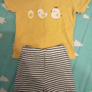 9一12個月寶寶套裝 正韓 卡特 幾乎全新 三套100元