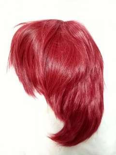 🚚 Red / Maroon Short Cosplay Wig