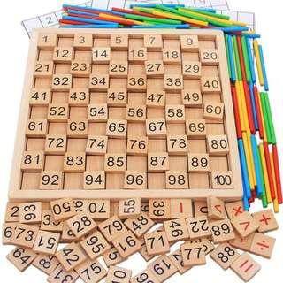 Wooden numbers learning tools