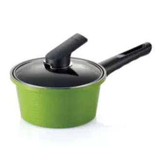 Happycall Alumite Ceramic Die-Cast Saucepan with Cover Green 18cm