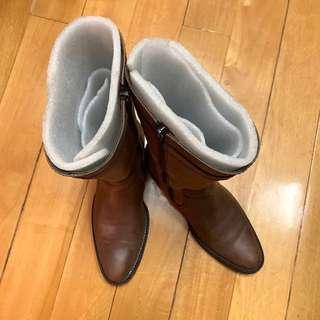 Price down🎉Le Saunda Leather Boots 中長款靴