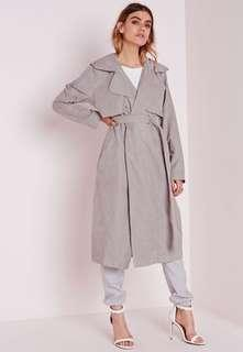 BNWT misguided grey trench coat