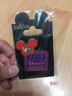 迪士尼襟章徽章2009牛年生肖pin