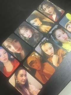 Red Velvet RBB Replicards Photocard