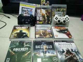 Ps3+9 games+2 controller