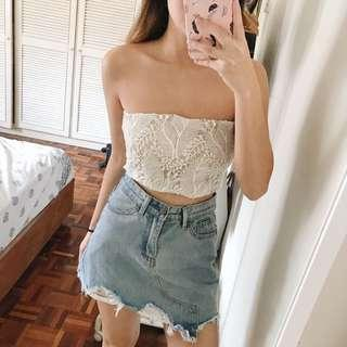 Lace Tube Top