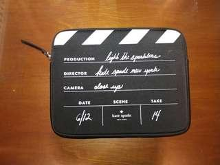 Kate Spade iPad sleeve: director's clapboard