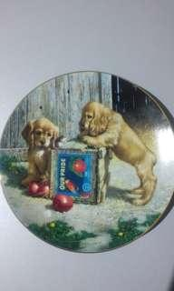 Puppies decorative plate