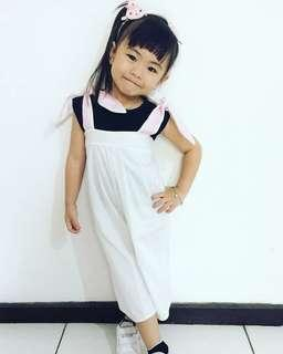 Jumpsuit anak overall bunny
