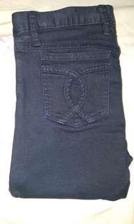 Bardot black low cut jeans cc back pockets