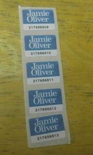 包郵~46個jamie oliver 印花
