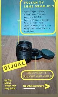 Lensa fujian 35 mm f1.7