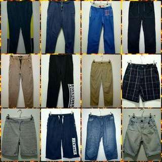 BOYS PANTS AND SHORTS BUNDLE Sizes 10-12