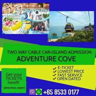 ADVENTURE COVE + CABLE CAR + ISLAND ADMISSION