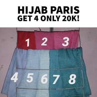 HIJAB PARIS GET 4 ONLY 20K