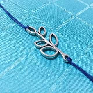 [Valentine's Sale] Silver Leaf Blue Bracelet