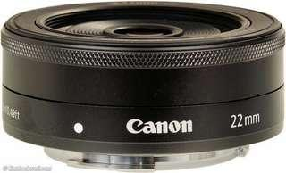 BRAND NEW: CANON 22 mm f/2 STM