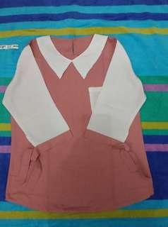 Pink White Collar