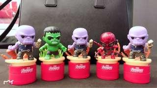 Double sided MARVEL HEROES stamps (require separate ink stamp pad)
