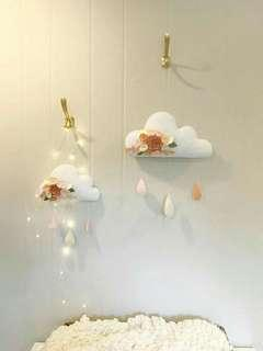 Double cloudy Hanging wall/door decoration