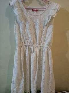 Lace dirty white Dress