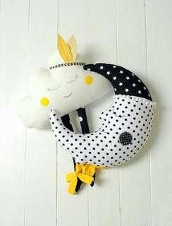 Cloud & moon pillow