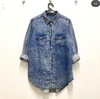 Denim Acid Wash Shirt