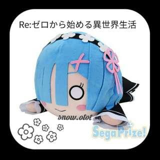 日版Re:Zero雷姆趴趴公仔☆BIG! 日本直送 Sega/Re從零開始的異世界生活動漫周邊/拉姆/Rem/Ram/anime Plush/soft toy/kids doll