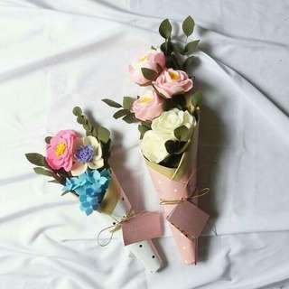 Bouquet bunga small - medium