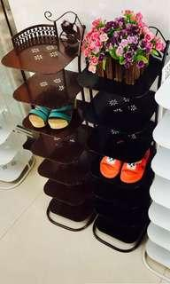 Brand new 6 tiers shoes rack black
