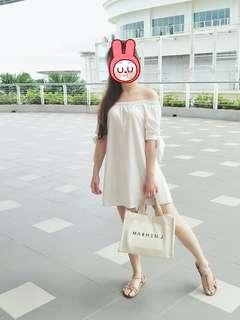 Off shoulder white dress #CNY888