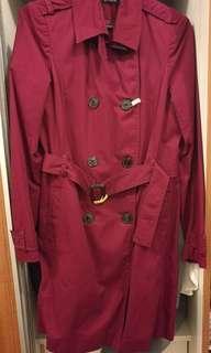 Stradivarius Burgundy Coat