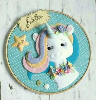 Hiasan dinding unicorn 2 wall decor