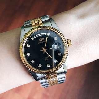🚚 BNIB Orient Leader 'President' Automatic Sapphire Crystal Accent EV0J002B FEV0J002BY Men's Watch