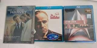 Original blue ray movie the god father star trek etc
