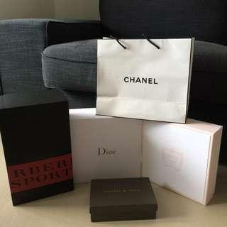 Chanel, Dior, Cartier & Burberry Gift Boxes