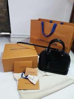 Full set: Louis Vuitton Epi Leather Alma BB