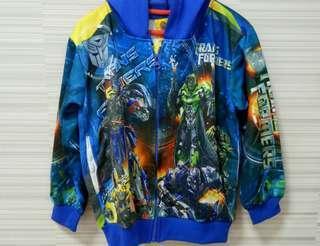 Jaket anak Transformer