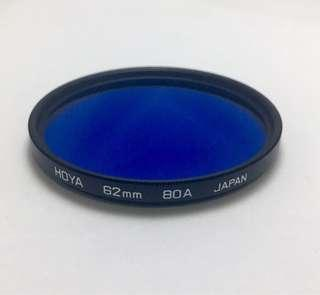 Hoya 62mm 80A Filter, Made in Japan