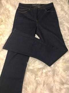Marks & Spencer Slim Flare Indigo Jeans (UK 12/EUR 40)