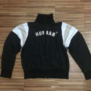 Human - Varsity-Like Jacket (Black)