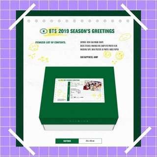 loose items bts 2019 season's greetings