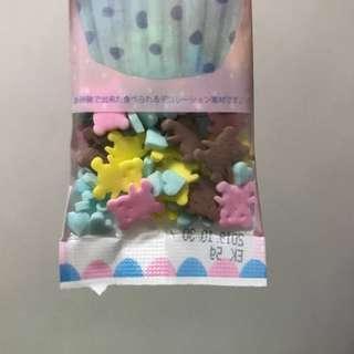 Bear and Heart Confetti Sprinkles